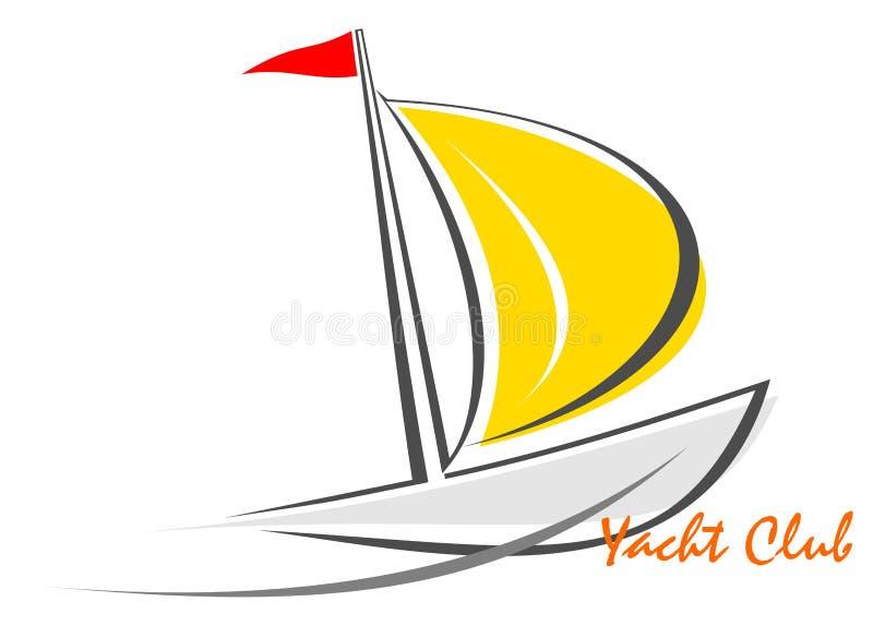 Yacht - sailing boat vector illustration