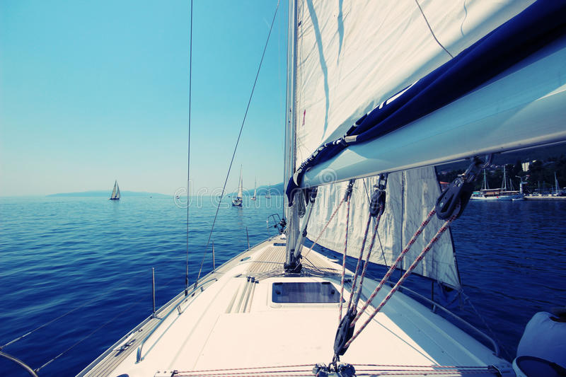 Yacht sailing royalty free stock images