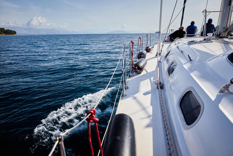 Yacht, sailing regatta. royalty free stock photography