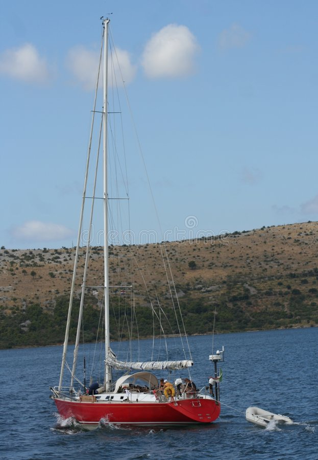 Download Yacht sailing in sea stock photo. Image of background - 1402474