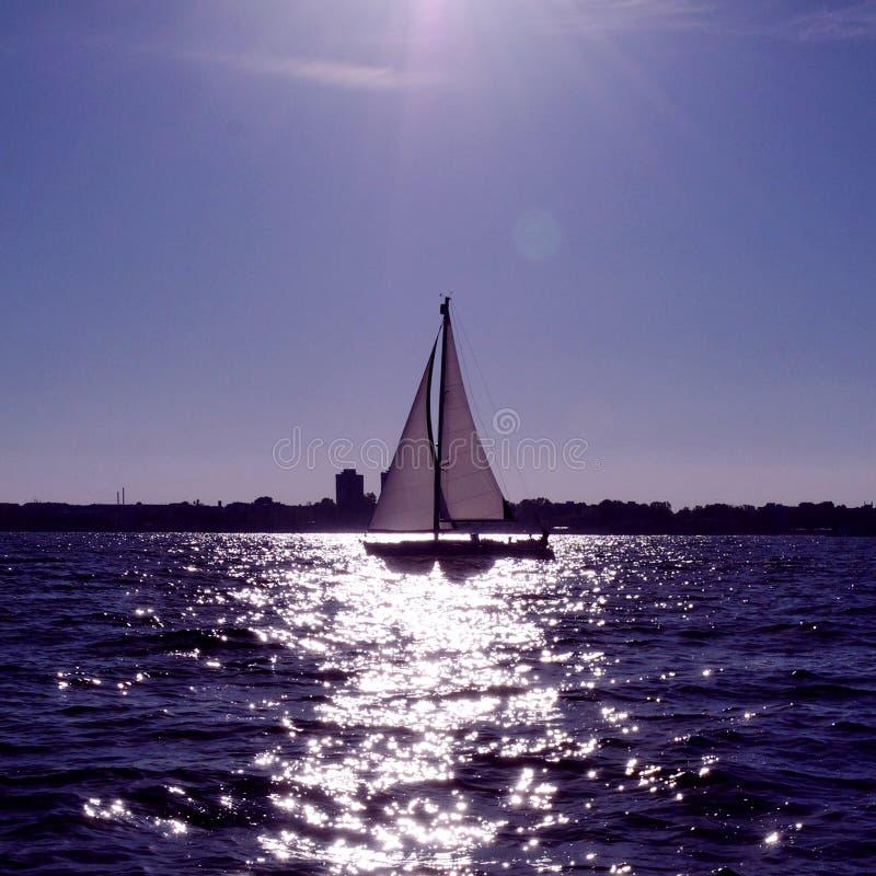Download Yacht sailing at sea stock photo. Image of shoreline - 19927934