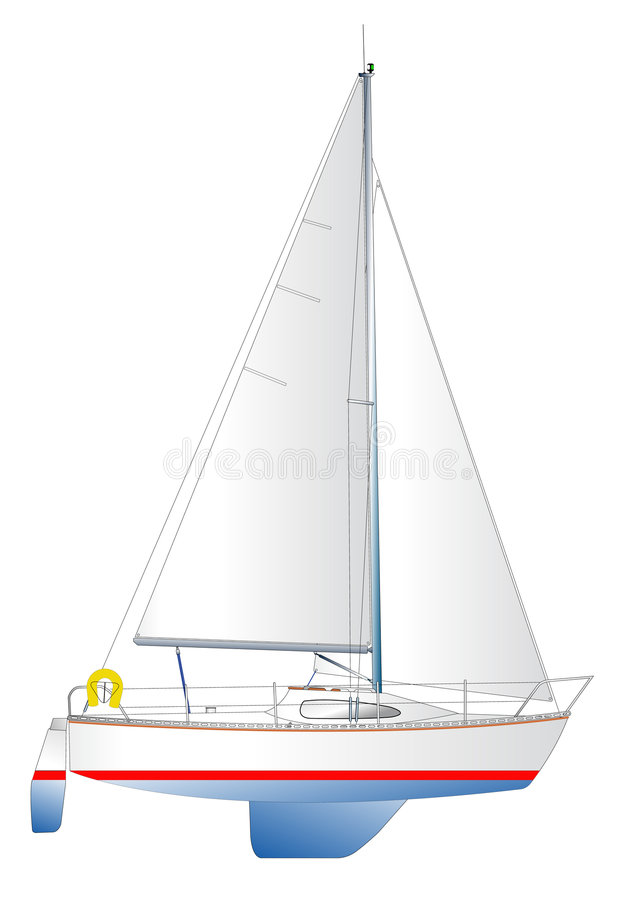 yacht saliing moderne illustration stock