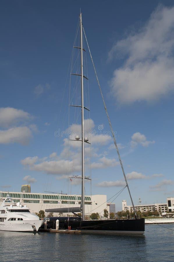 Yacht in San Diego stockbild