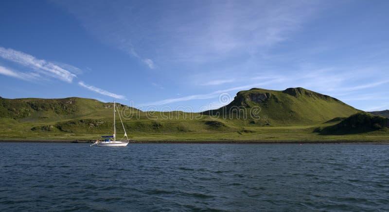 Yacht in Scozia fotografia stock libera da diritti