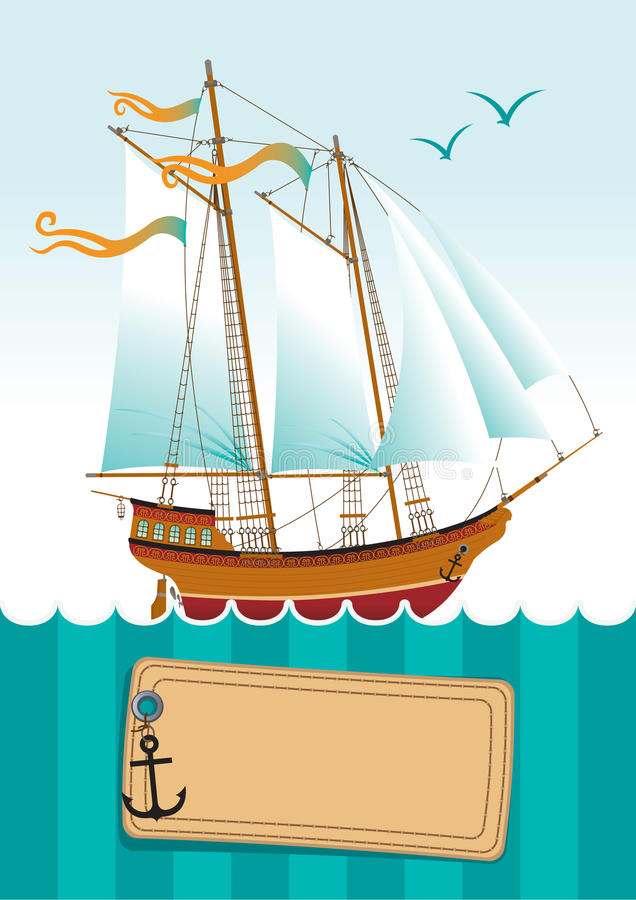 Download Yacht at sea stock vector. Image of cruise, seascape - 24085712