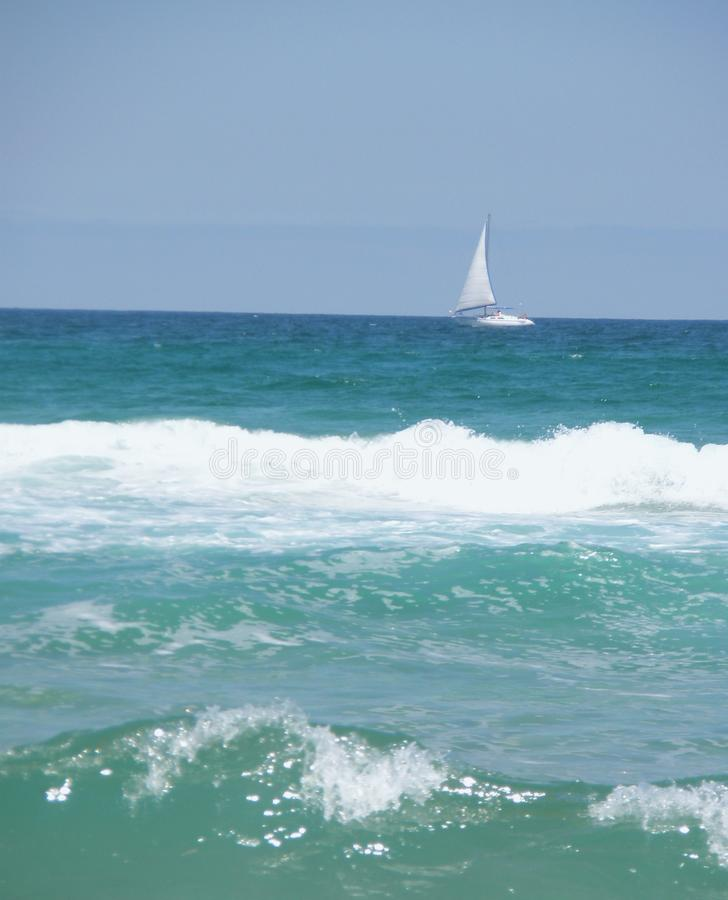 Download Yacht on the sea horizon stock photo. Image of relaxing - 13270086