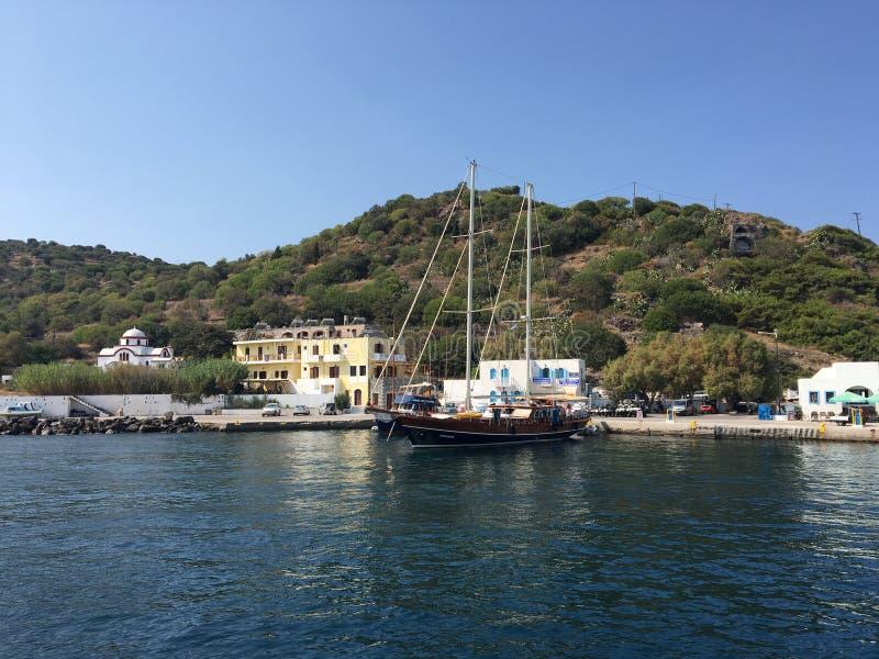 Yacht Sea KOS royalty free stock image