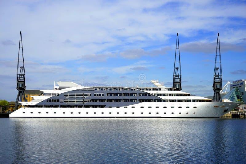 Yacht at sea royalty free stock photos