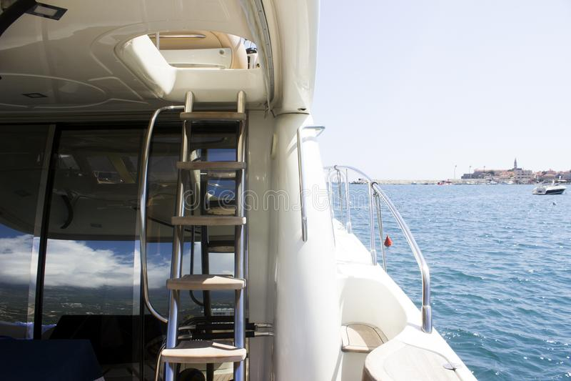 Yacht sea transport stairs rich stock photography