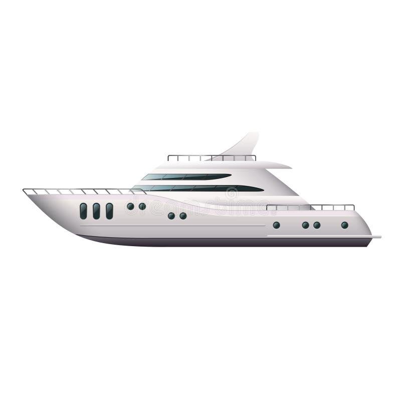 Yacht som isoleras på den vita vektorn vektor illustrationer