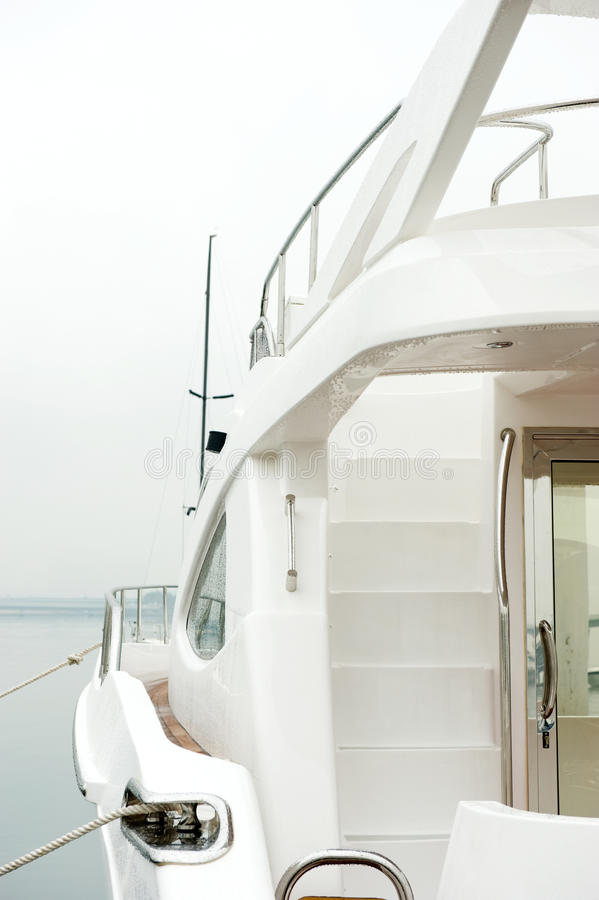 Yacht stairs royalty free stock photo