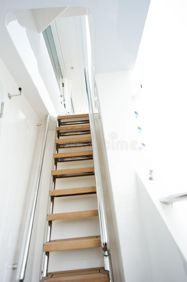Yacht stairs royalty free stock photos