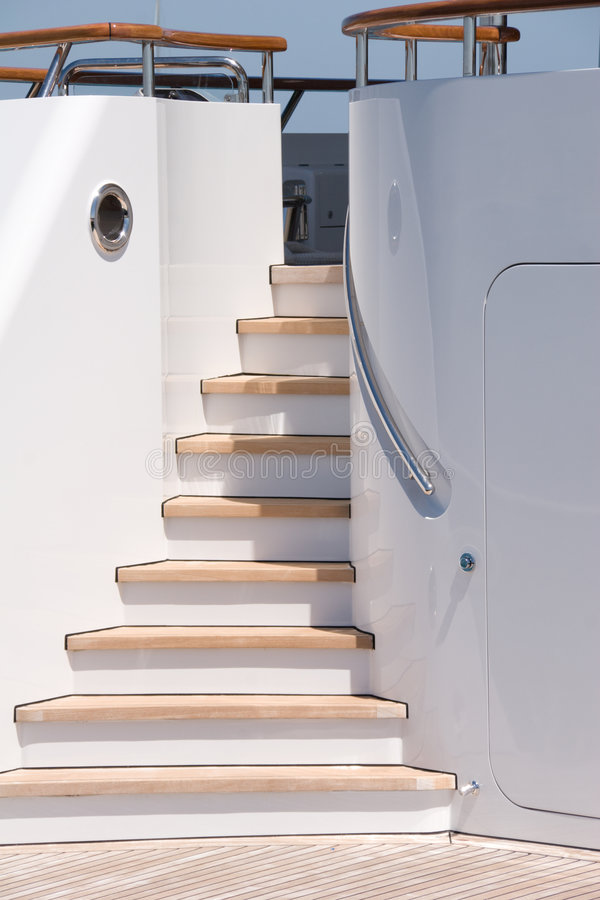 Yacht Stairs stock photos
