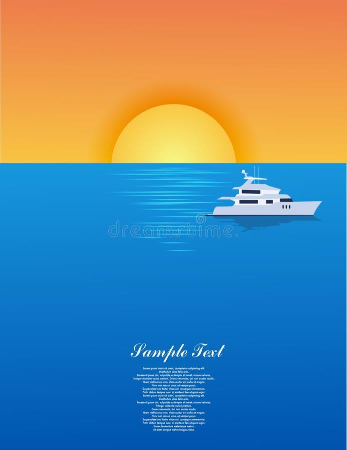 Yacht sul mare illustrazione di stock