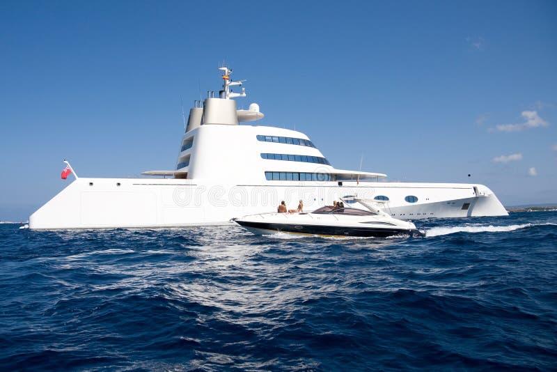 Yacht superbe d'Andrei Melnichenko photographie stock