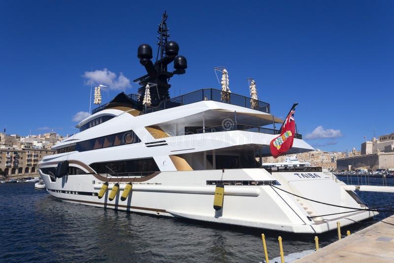 Yacht superbe de luxe images libres de droits