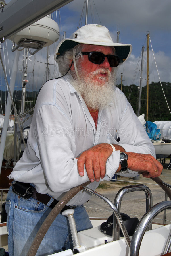 Yacht surveyor royalty free stock images