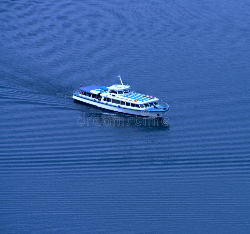Yacht. The Top View Royalty Free Stock Photo