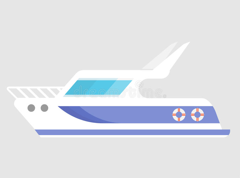 Yacht Vector Icon stock photography
