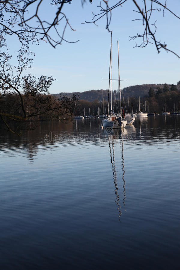 Download Yacht on Windermere stock image. Image of quiet, yacht - 12358669