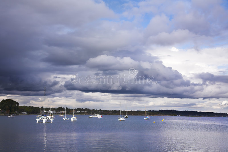 Yachten auf Insel Vancouver stockbild