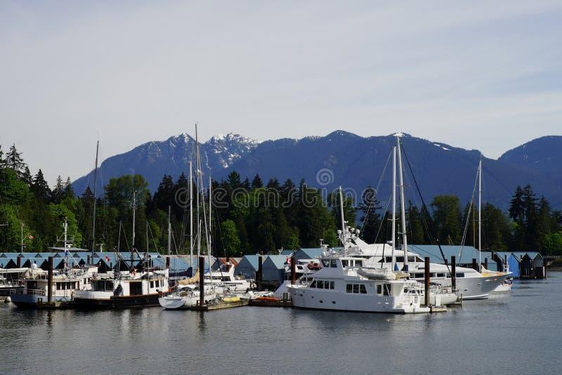 Download Yachten Am Burrard-Einlass, Vancouver, Kanada Mit Bergen Im Hintergrund Stockfoto - Bild von schnee, transport: 106804510