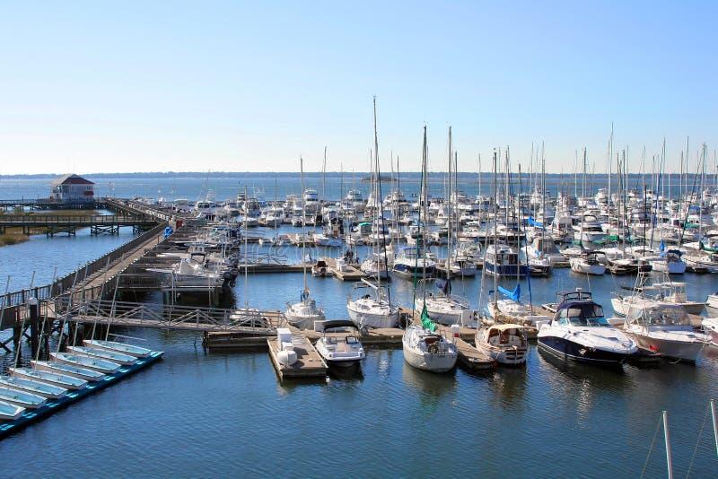 Yachten im Jachthafen lizenzfreie stockbilder