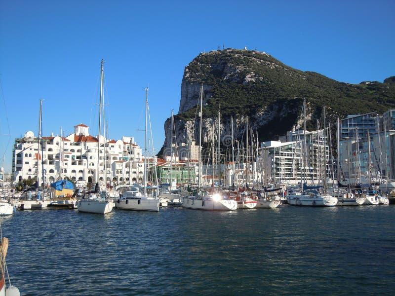 Yachten im Jachthafen in Gibraltar lizenzfreie stockfotografie