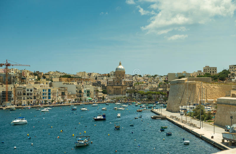 Yachten in Malta stockfotografie