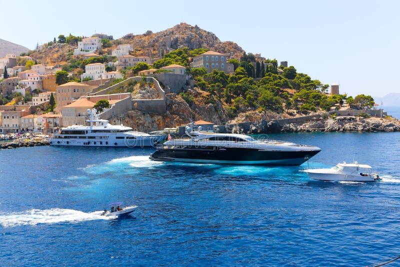 Yachter - Grekland öar royaltyfri foto