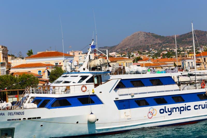 Yachter - Grekland öar arkivbild