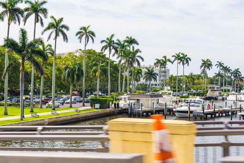 Yachter på West Palm Beach, Florida royaltyfria foton