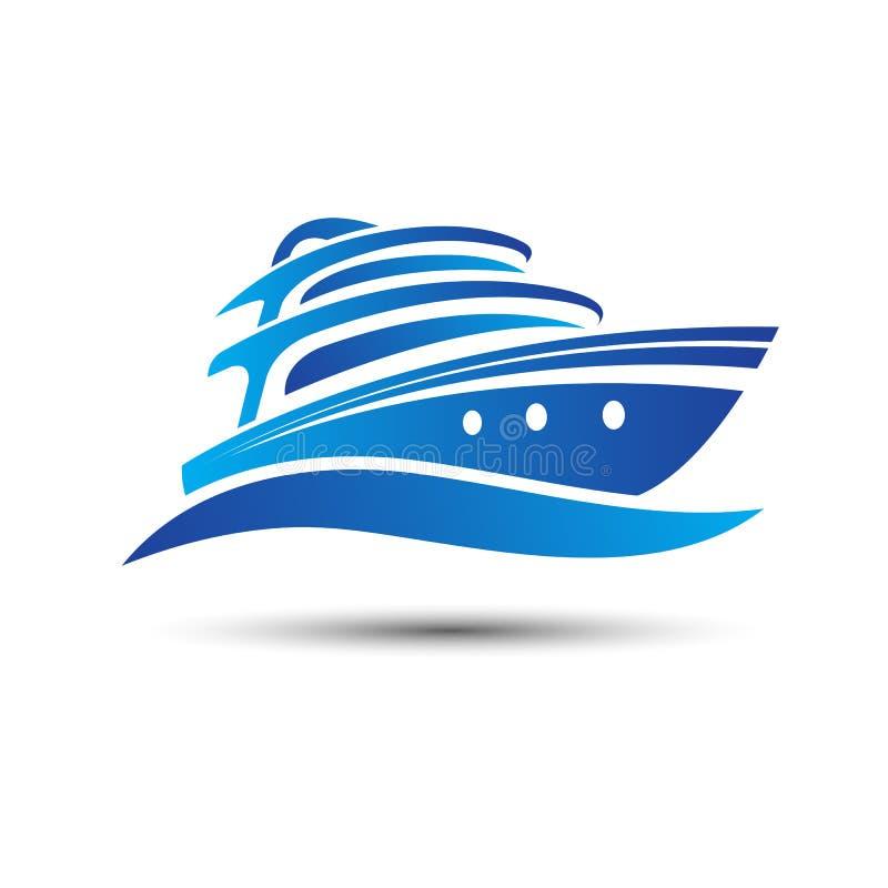 Yachtfartyg royaltyfri illustrationer