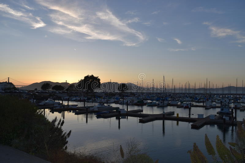 Yachthamn San Francisco royaltyfri bild