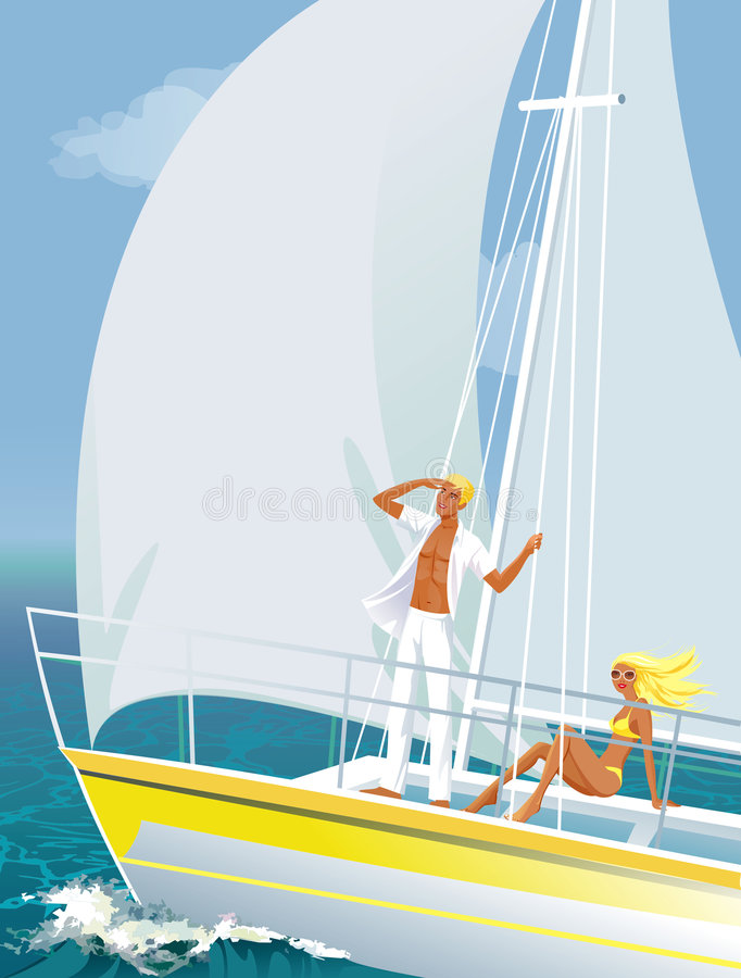 Download Yachting stock illustration. Image of ocean, happy, sailing - 2401996