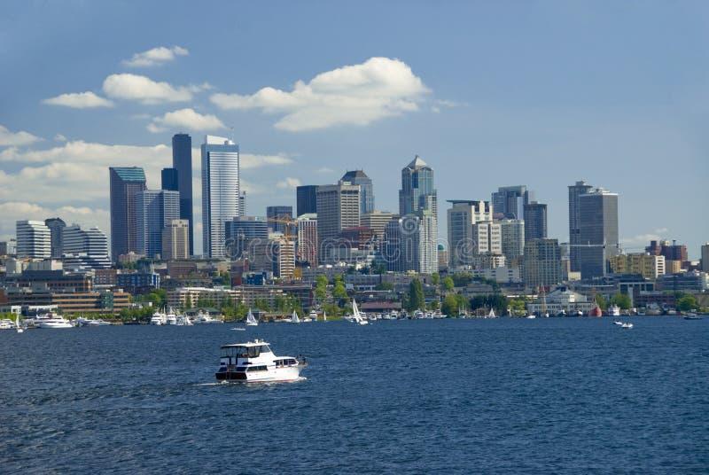Yachting em Seattle fotos de stock royalty free