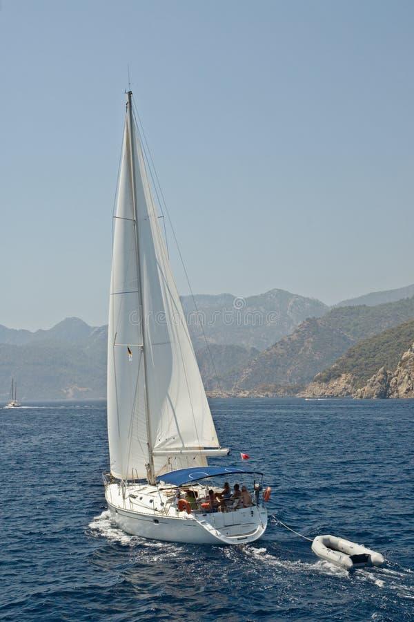 Yachting im Marmaris Schacht stockfotos