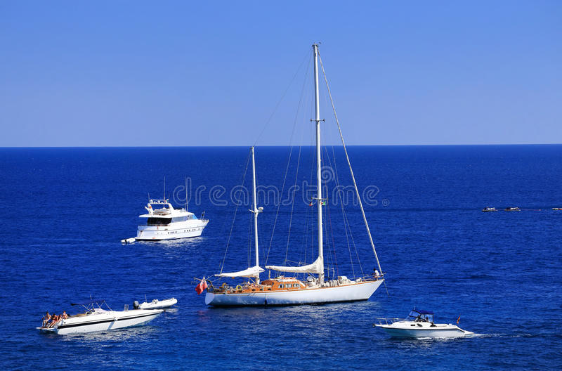 Download Yachting On The Mediteranean Sea Stock Image - Image of beautiful, beach: 39514669