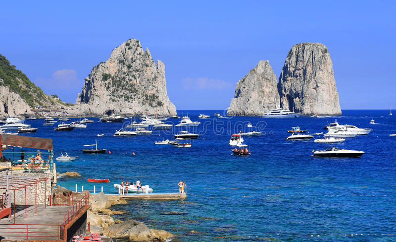 Download Yachting On The Mediteranean Sea Stock Image - Image of famous, capri: 39514677
