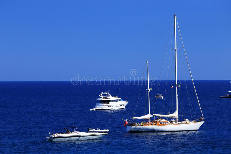 Download Yachting On The Mediteranean Sea Stock Image - Image of shore, italy: 39514679