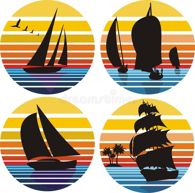 Download Yachting, Sailing, Adventures Stock Vector - Image: 22622367