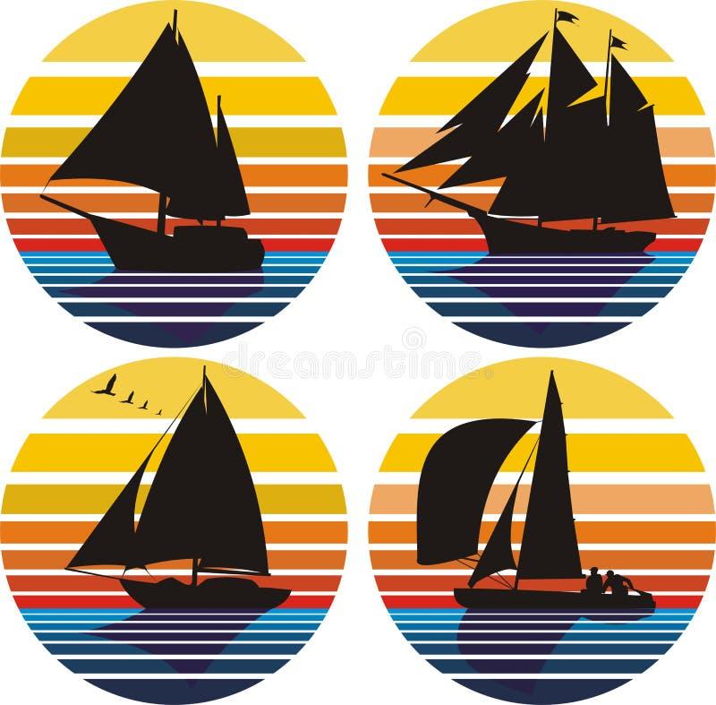 Yachting und Segeln stock abbildung