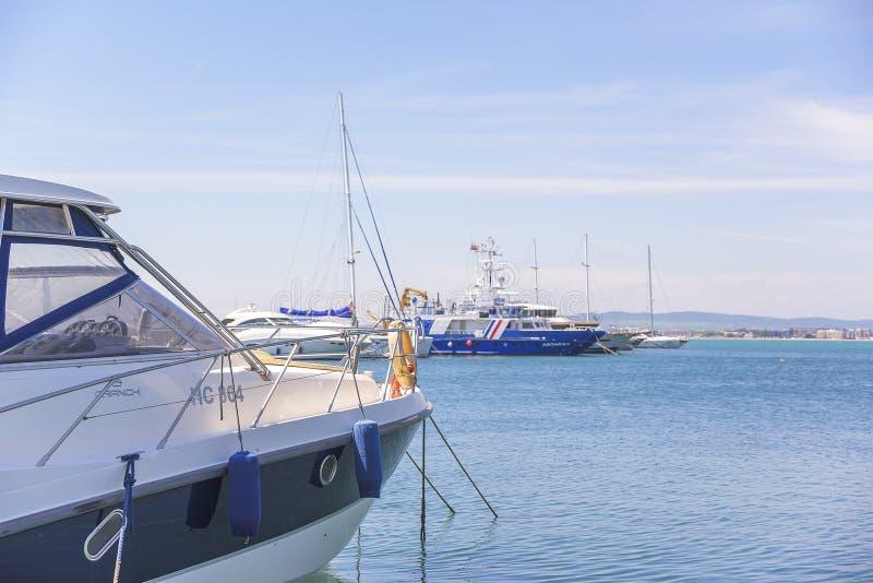 Yachtjachthafen in St. Vlas, Bulgarien stockfotografie