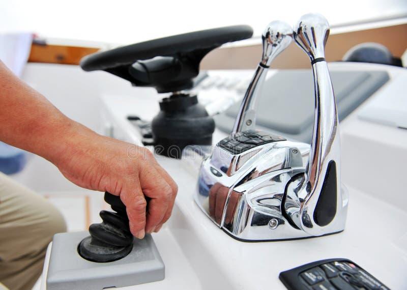 Yachtkapitän lizenzfreies stockbild