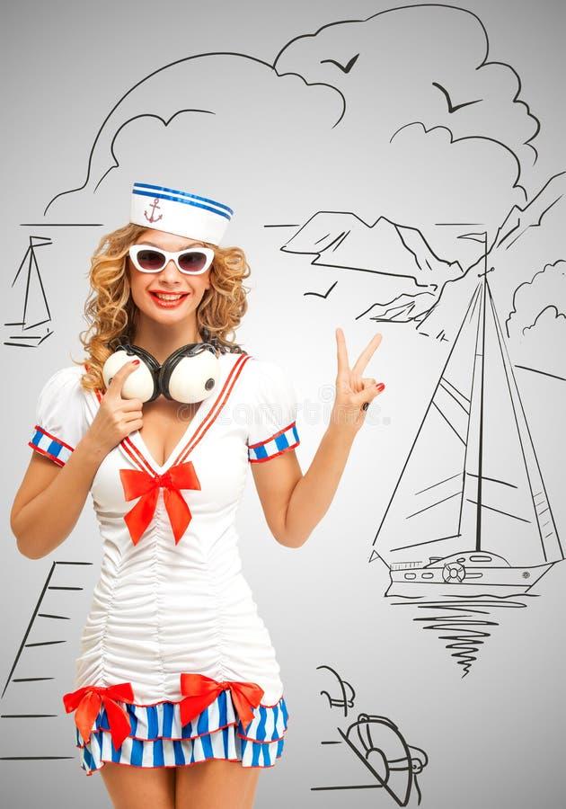 Yachtklubba vektor illustrationer