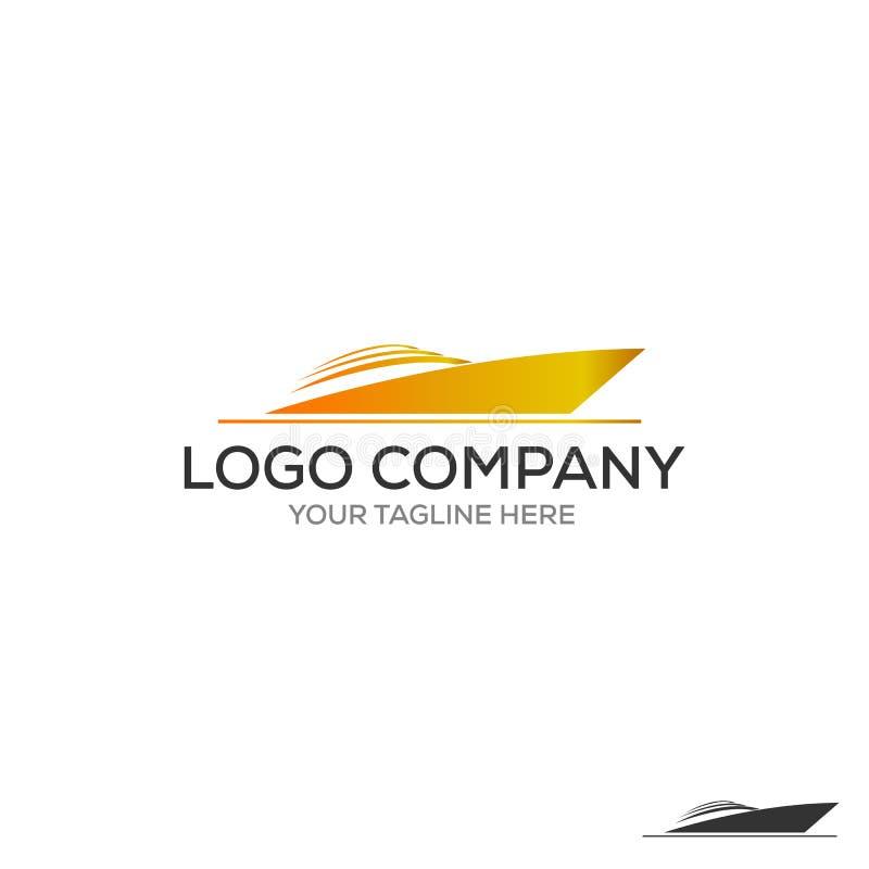 Yachtlogo Enkel illustration av yachtvektorsymbolen för rengöringsduk stock illustrationer
