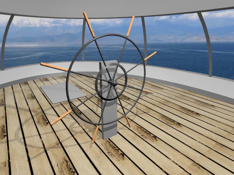 Yachtplattform lizenzfreie abbildung