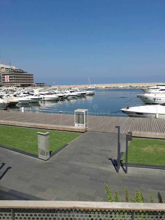yachtport Beirut royaltyfri foto