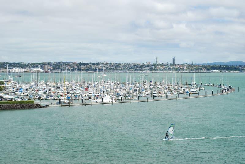 Yachts à Auckland, Nouvelle-Zélande images libres de droits