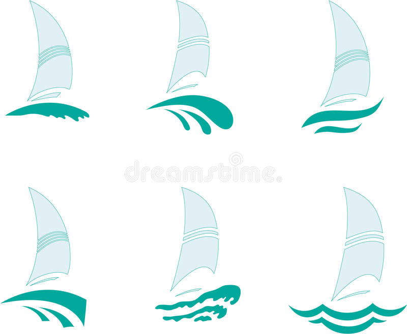 Yachts vector illustration